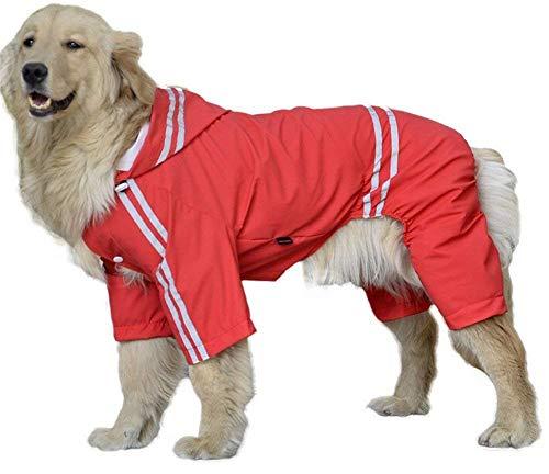 LLYU Huisdier hond regenjas windbreaker warme kleding, vierbenige Big Dog Golden Retriever Satsuma Chow Chow hond met een grote hond regenjas Teddy, 7XL