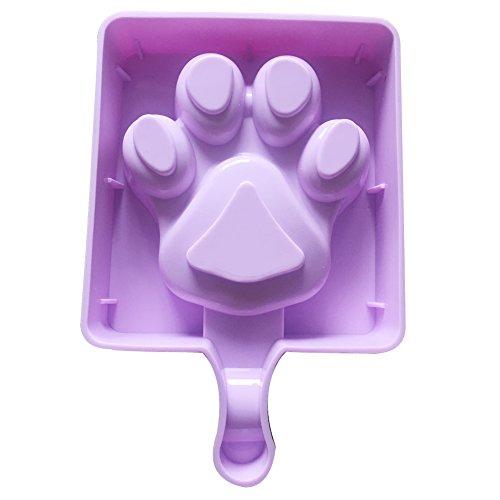 Qearly Blau Mode DIY Ice Popsicle Ice Cream Eis Am Stiel Form Stieleisformen Eisformen-Ein Stueck Pfote