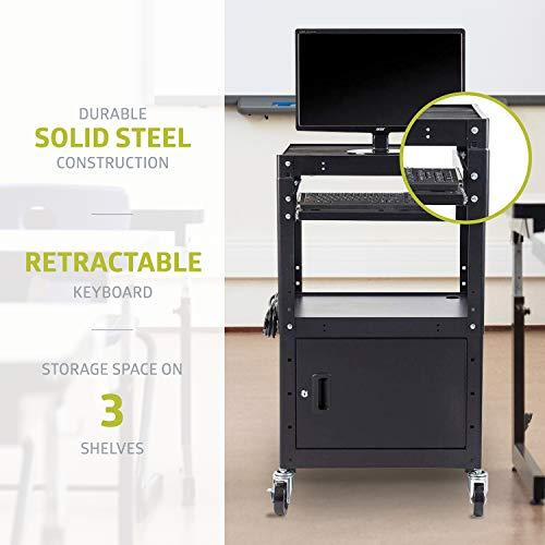 Pearington Rolling AV Cart with Adjustable Shelves