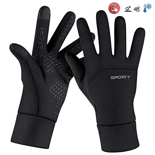 LangRay Fahrradhandschuhe Touchscreen, Winterhandschuhe Herren Fahrrad Wasserdicht, Touchscreen Handschuhe rutschfest für Radfahren, Motorradfahren, Wandern-L