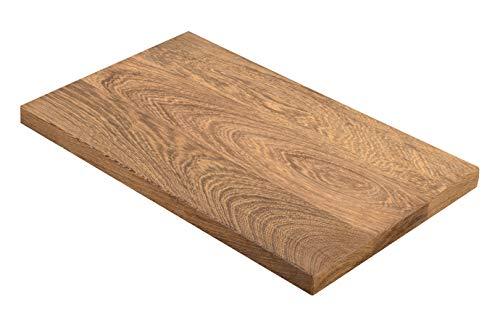 Exklusives Holz Schneidebrett Wenge   Frühstücksbrettchen aus Naturholz (Wenge)   22 x 250 x 350 mm, 1,4 kg   Brotschneidebrett oder Kuchenplatte für Küche, groß