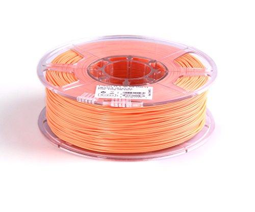eSun 3D-PLA Filamento 1,75 MM 1 Kg-arancione, (arancione), temperatura di pressione 190-220 °C, per stampante 3D MakerBot RepRap MakerGear Ultimaker UP Mendel Huxlep THING-O-MATIC universale