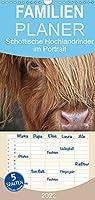 Schottische Hochlandrinder - Highland Cattle im Portrait - Familienplaner hoch (Wandkalender 2022 , 21 cm x 45 cm, hoch): Schottische Hochandrinder, die Rinderrasse die auf der ganzen Welt bekannt und geschaetzt ist. (Monatskalender, 14 Seiten )