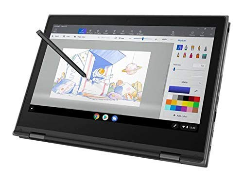 Lenovo 500e Chromebook (2nd Gen) 81MC0008 11.6' HD Laptop, Intel Celeron N4100 (4 Core, 2.40 GHz), 4GB DDR4 RAM, 32GB SSD, Intel HD Graphics 600, Chrome OS - UK Keyboard Layout. (Renewed)
