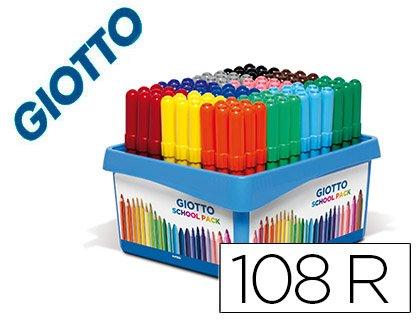 Giotto Rotulador Turbo Maxi School Pack de 108 Unidades 12 Colores x 9 Unidades.