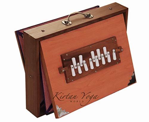 Shruti Box Raga Standard, professionelles Modell, aus Teak-Holz, C-Tonleiter (c3 bis c4), 39 x 30 x 8,5 cm, Gewicht 3,5 kg, gestimmt auf 440 Hz (432 Hz auf Anfrage)