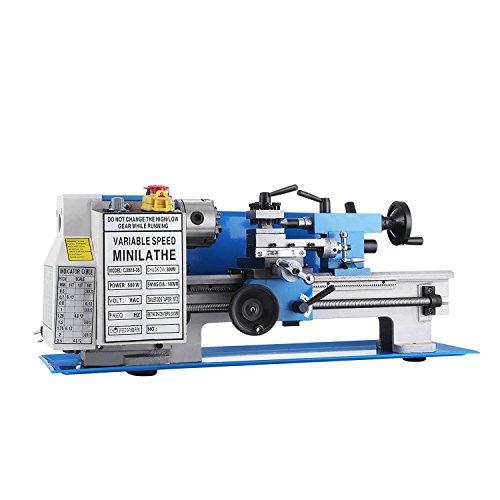 BananaB mini Drehmaschine 550W Metall Drehmaschine 7x12inch Precision Mini Metal Lathe 2500 RPM Tischplatte Drehmaschine (550W)