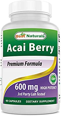 Best Naturals Acai Berry 600 mg 60 Capsules by Best Naturals