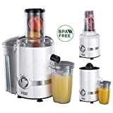 Russell Hobbs 22700-56 3-in-1 Entsafter, Smoothie Maker & Zitruspresse (1,1 PS-Motor, 800W,...