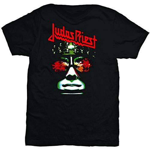 Collectors Mine - Camiseta de Judas Priest Hell Bent, con cuello redondo de manga corta para hombre, talla S, color negro