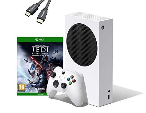Microsoft - Xbox Series S 512 GB All-Digital Console (Disc-Free Gaming) Bundle Star Wars: Jedi Fallen Order for Xbox One W/ 4K HDMI