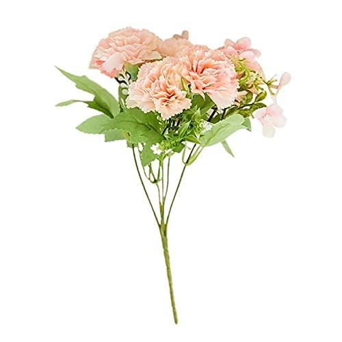 Sonze Flor de simulación de Clavel, Boda Hecha a Mano, Mezcla de Flores_10PCS,Flores Artificiales Decoración,decoración para el hogar, jardín