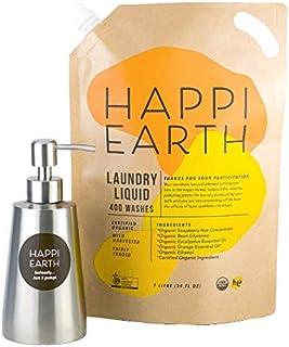 ハッピー認定オーガニック洗濯用洗剤スターターキット(ポンプ付) 1袋で約400回分、1回の洗濯約21.75円!