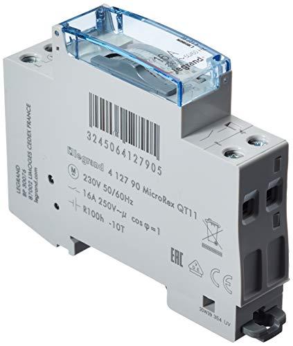 Legrand 412790 interrupteur de temps programmable, cadran vertical, réserve de travail de 100h, 230 V, 50/60 Hz