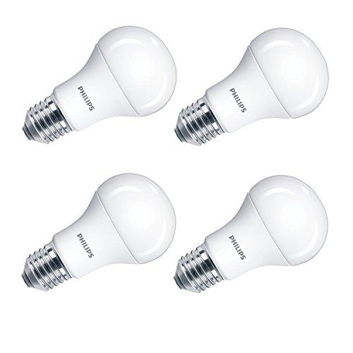 Philips LED 5W (40W) A60E27Edison Schraube Licht Glühbirne, Frostglas,–Kühles Weiß, Synthetisch, weiß, E27, 5 wattsW 240 voltsV