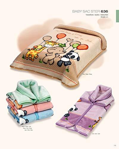Kuscheldecke Schlafsack Fußsack Babydecke 80x90 cm 636 Baby Sac® Ster® Belpla® (grün)