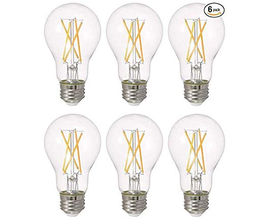 SYLVANIA LED TruWave Natural Series A19 Light Bulb, 40W Equivalent, Efficient 5.5W, Dimmable, 450 Lumens, Clear - 6 Pack (40805)