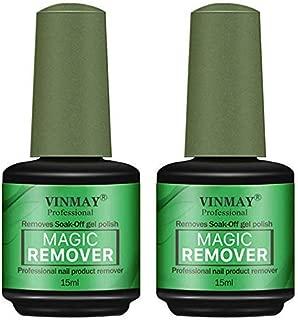 2 Pcs Magic Nail Polish Remover, Professional Vinimay Magic Soak Off Gel Polish Remover In 3-5 Minutes, Easily & Quickly, Don't Hurt Your Nails