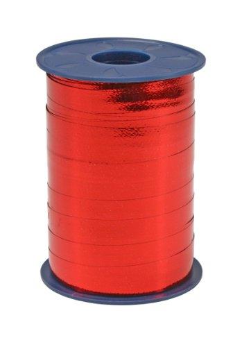 C.E. Pattberg MEXICO Geschenkband metallic rot, 250 m Ringelband zum Einpacken von Geschenken, 10 mm Breite, Zubehör zum Dekorieren & Basteln, Dekoband für Präsente, zu jedem Anlass