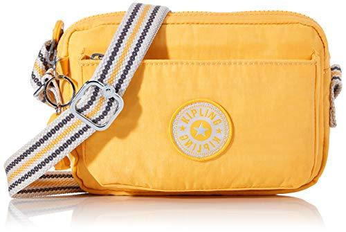 Kipling Abanu, Bolsos con Bandolera para Mujer, Amarillo (Vivid Yellow), 20x13.5x7.5 cm