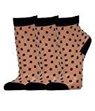 Disée 3 Paar Feinsöckchen Damen Strümpfe schwarz transparent Punkte Socken mit Ferse und Zehenkappe, Size:39-42, Farben:black