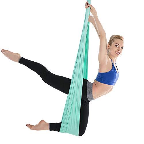 Lixada Aerial Yoga Hammock 5m X 2.8m Yoga Hammock Set Aerial Yoga Equipment Yoga Swing for Antigravity Yoga Inversion Exercise