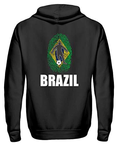 Sudadera con Cremallera Fans del Mundial de Brasil, Camiseta de Rusia 2018, diseño Nacional Negro L