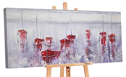 YS-Art Premium   Dipinti a Mano Colori Acrilici Rifugio Sicuro   Quadro Dipinto a Mano   160 x 80 cm   Pittura   Dipinti Modern   Quadri Dipinti a Mano   Multicolore   PS 029