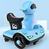 YIQIFEI Space Robot Equilibrio Vehículo Niños Paseo en Coche de Juguete Niños Moto Motocicleta Scooter Eléctrico Motor Bicicleta 6V Batería Op (Coche RC)