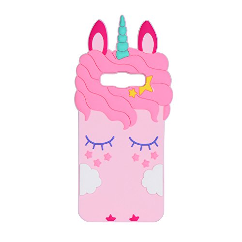 Joyleop Pink Unicorn Case for Samsung Galaxy ON5 Grand Prime,J2 Prime Cool Soft Cover,3D Cute Cartoon Animal Shell,Kids Girls Silicone Rubber Gel Kawaii Character Skin for Samsung Prime G530 J5,J510