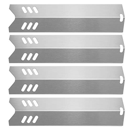 Hisencn 15 inch Heat Plate Replacement for Dyna-glo DGF510SBP, DGF510SSP, Backyard GBC1460W, GBC1461W, BY13-101-001-13, Uniflame GBC1059WB, BHG, 15' Stainless Steel Grill Heat Shield Tent Flame Tamer