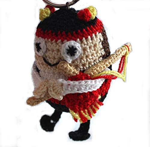 Muñeco minium gaitero gallego, fabricado a mano.Calcetado,...