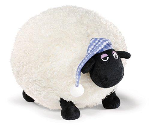 Nici 41468 Shaun das Schaf Kuscheltier Shirley mit Schlafmütze, 30 cm, Farbe: Weiß/Schwarz