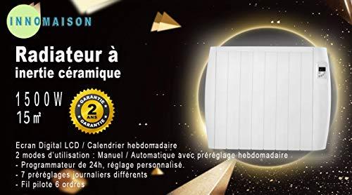 Xlin Radiador eléctrico con la inercia de cerámica 1500w