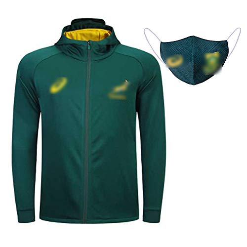 South Africa Rugby Jacke, Jacke Zipper Hood Rugby Jacke, Herbst wasserdichte und atmungsaktive Jacke-XXL
