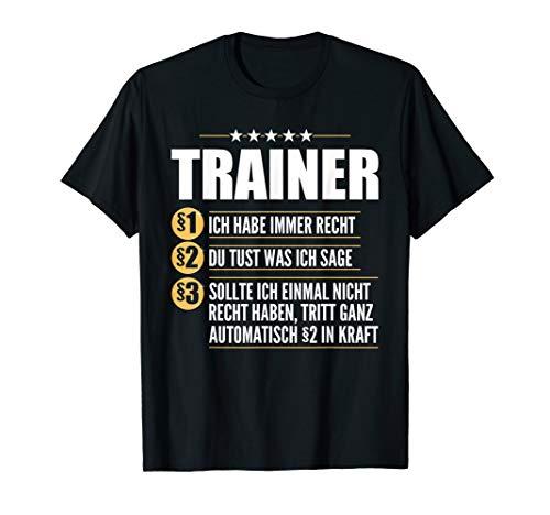 Motiv-Sprüche Coach Coaching Sportlehrer Trainer T-Shirt T-Shirt