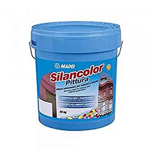 Pintura siloxánica para exteriores e interiores, 5 kg, Silancolor, pintura Mapei – Color: mazo de color