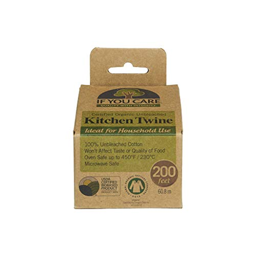 If You Care 100% Natural Cooking Twine, 200', Unbleached