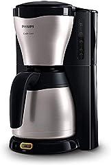 Philips HD7546/20 - Cafetera de goteo café Gaia, 1000 W, jarra térmica con capacidad para 10-15 tazas, color plata
