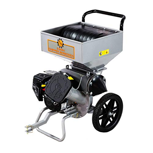 """Dirty Hand Tools 106817 Chipper Shredder With 3"""" Kohler Engine & Dual Steel Blades, Bag Included"""