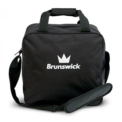 Brunswick TZone Single Tote 1-Ball-Bowling-Tasche für einen Bowlingball, Farbe:Schwarz