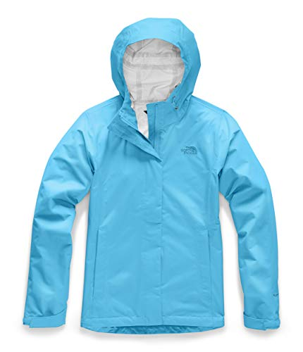 Womens Venture 2 Waterproof Hooded Turquoise Blue Rain Jacket