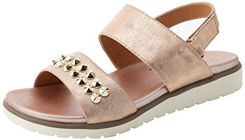 XTI 47949, Sandalias con Punta Abierta para Mujer, Gris (Plomo), 39 EU (Zapatos)