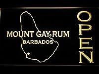 Mount Gay Rum Barbados Open LED看板 ネオンサイン ライト 電飾 広告用標識 W40cm x H30cm イエロー