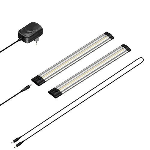 parlat LED Unterbau-Leuchte SIRIS, flach, je 30cm, 220lm, warmweiß, 2er Set