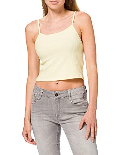 Only Onllarra Cropped Singlet Jrs Noos Camiseta sin Mangas, Amarillo Pastel, S para Mujer
