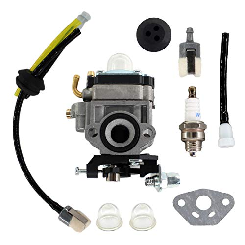 USPEEDA Carburetor for Troy-Bilt TB2BP EC Snapper BB44 27cc Backpack Blower Carb Fuel Line Kit