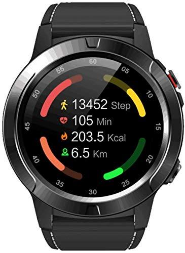 Reloj inteligente multifuncional de los deportes al aire libre, reloj inteligente de Bluetooth, reloj deportivo impermeable IP67-negro