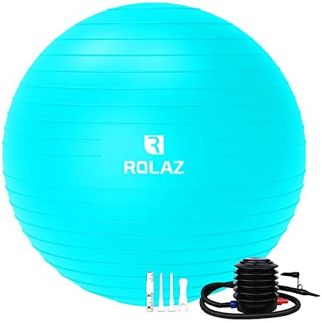 ROLAZ Exercise Ball Yoga Stability Ball Women Pregnancy Birthing Office Chair Ball for Fitness product image