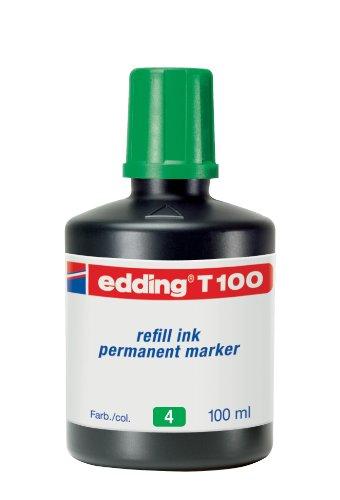 Edding: Tinta para rellenar marcador permanente, 4 T100004, de 100ml, color verde